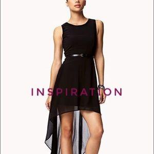 Forever 21 Black Semi Sheer High Low Dress